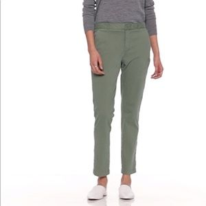 Banana Republic Sloan Skinny Fit Olive Chino Pants